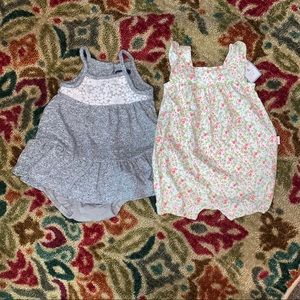 NWT & NWOT Baby Gap Girt 3-6 Lot Romper Dress Set